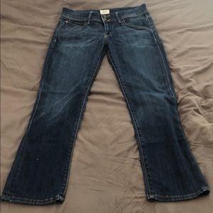 Size 25 Hudson Straight Leg Flap Pocket Jean